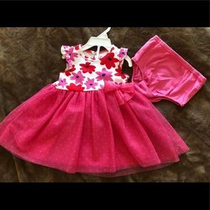 Other - Baby Toddler Floral Dress Pink  Bow 2Pc Age 12mos